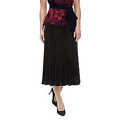 Jacques Vert - Velvet panelled skirt