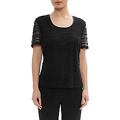 Precis Petite - Black marni lace top