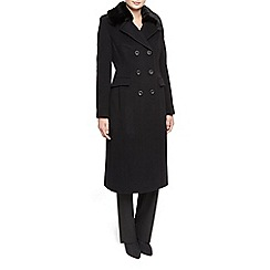 Planet - Black Fur Collar Coat