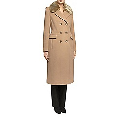 Planet - Camel Fur Collar Coat