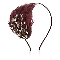 Kaliko - Jewel and feather fascinator