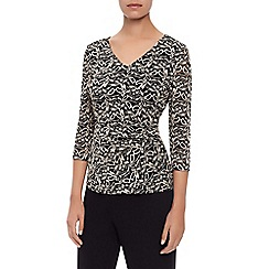 Kaliko - Contrast Lace Jersey Top
