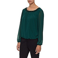 Kaliko - Embroidered Neckline Blouse