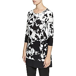 Planet - Black And White Print Tunic