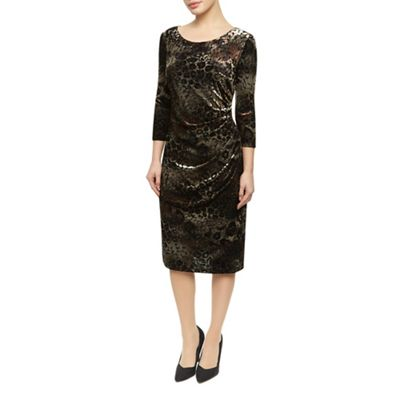 Precis Petite Animal Velvet Burnout Dress - . -