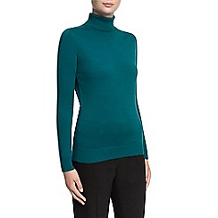 Planet - Teal knit roll neck jumper