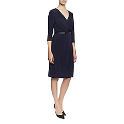 Planet - Navy Belted Dress