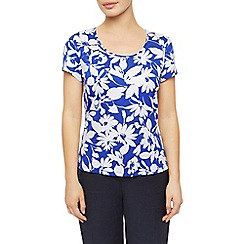 Precis Petite - Regatta Print Scoop Neck Top