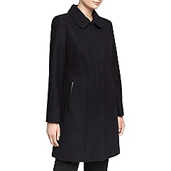 Planet - Navy Wool Coat