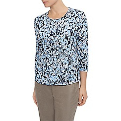 Eastex - Textured Swirl Wrap Top