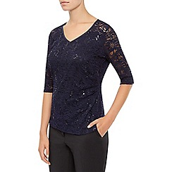 Planet - Midnight Sequin Lace Top