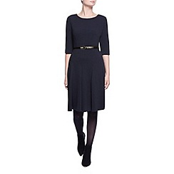 Kaliko - Curved Seam Textured Dress