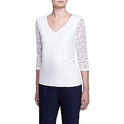 Kaliko - Lace Jersey Sleeve Top
