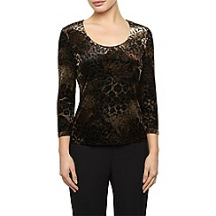 Precis Petite - Animal Burnout Print Top