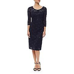 Precis Petite - Sheer Yoke  Lace Dress