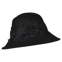 Jacques Vert - Lace Trim Felt Hat