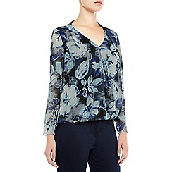 Kaliko - Shadow Leaf Print Blouse