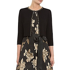 Kaliko - Black embellished trim shrug