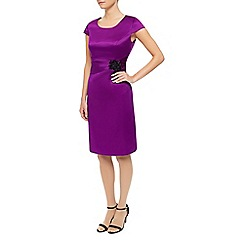 Precis Petite - Satin Jewel Waist Dress