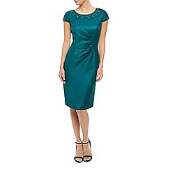 Precis Petite - Teal Embellished  Dress