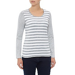 Dash - Scoop Neck Stripe Jersey Top