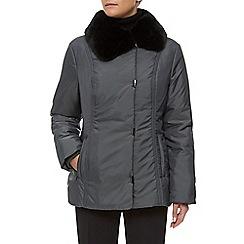 Precis Petite - Mid Fur Collar Coat