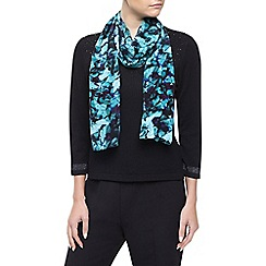 Precis Petite - Teal Floral Print Scarf