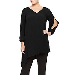 Windsmoor - Black Long Asymmetric Top