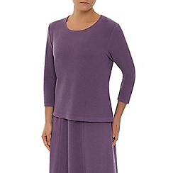 Eastex - Dark Mauve Textured Top