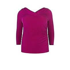 Windsmoor - Raspberry Bardot Jersey Top