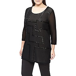 Windsmoor - Black Sequin Mesh Tunic