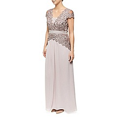 Jacques Vert - Chiffon And Contrast Lace Maxi