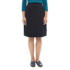 Dash - Twill Fit And Flare Skirt Navy