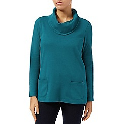 Dash - Patch pocket cowl neck top