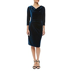 Precis Petite - Teal Velvet Dress