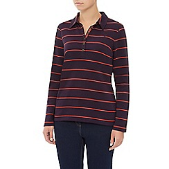 Dash - Striped Rugby Top Bias Collar