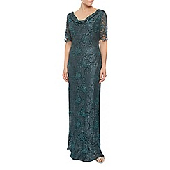 Jacques Vert - Lace And Bead Cowl Neck Dress