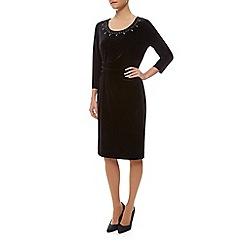 Precis Petite - Embellished Velvet Dress