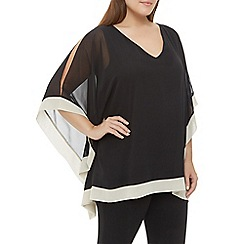 Windsmoor - Black And Oyster Chiffon Tunic