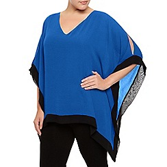 Windsmoor - Cobalt And Black Chiffon Tunic