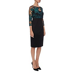 Kaliko - Winter Floral Lace Jersey Dres