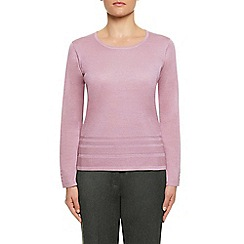 Eastex - Soft pink pintuck hem sweater
