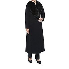 Jacques Vert - Long Faux Fur Collar Coat