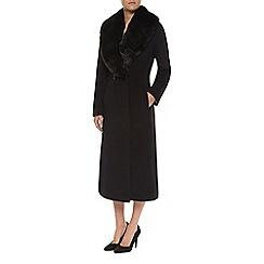 Jacques Vert - Petite Faux Fur Collar Coat