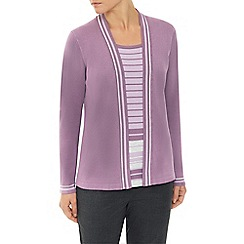 Eastex - Mauve Stripe 2 In 1