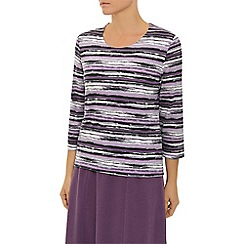 Eastex - Mauve Watercolour Stripe Top