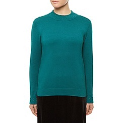 Eastex - Beaded Neck Turtle Jumper