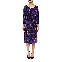Precis Petite - Blue Violet Floral Dress