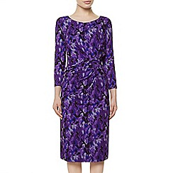 Precis Petite - Print Layered Leaf Dress
