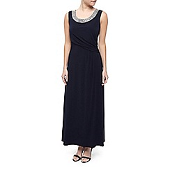Precis Petite - Embellished Neck Maxi Dress